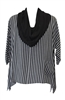 Moroccan Striped Moroccan Cowl Neck Top