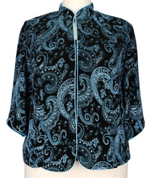 Alex Evenings  Black & Blue Paisley Twin Set