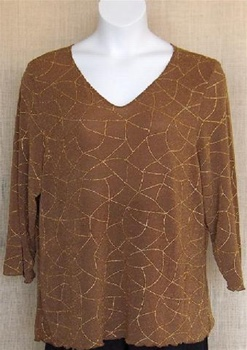 All Hours Gold Glitter Slinky Top