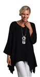 Chalet Silky Woven Ivy Tunic Black
