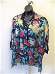 Carole Tomkins Burnout Flowers Big Shirt