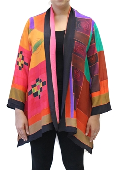 Klee Inspired Silk Jacket