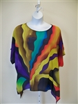 Vital  Inspired Silk Tunic   Hand Painted  Art to Wear
