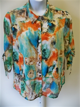 Erin London Inside Out Blouse