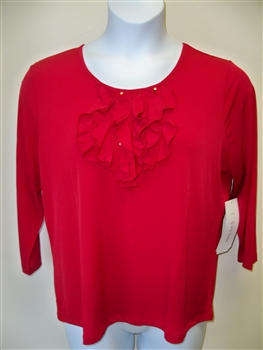 Erin London Ruffle Top Red
