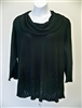 Fenini Roll Neck Top   Black