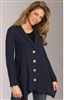 Fenini Black W Hem Sweater Jacket