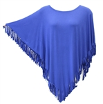 Kokomo Unlimited Royal Fringe Poncho