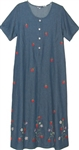 La Cera Denim Strawberry Dress