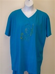 Liz and Jane Sea Seahorse V Neck Tee Shirt
