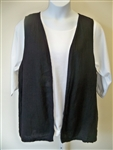 Liz & Jane Black Linen Vest