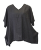 Match Point Black Linen Kimono Tunic