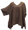 Match Point Brown Linen Kimono Tunic