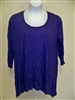 Pleats Crinkle Knit Purple Drape Top