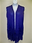 Pleats Purple BurnOut  Vest