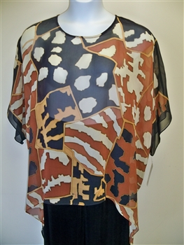 Sterling Styles Animal Textile Art Wear Silk Tunic