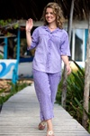 Ezze Wear  Honey Komb Short Sleeve Snap Shirt  Morado