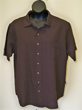 Ezze Wear  Mirage Gauze s/s  sleeve  Snap Shirt  Brown
