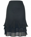 Alex Evenings Black Chiffon  Tier Skirt