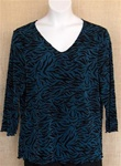 All Hours Teal Zebra Slinky Top