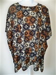 Brown and Beige Squares  Art Wear  Tunic