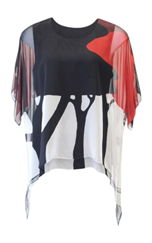 Cocoon House Art Wear Silk Tunic