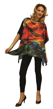 Silk Blend Hand Painted Tunic