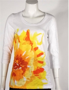 Erin London Novelty Tee  White / Bright