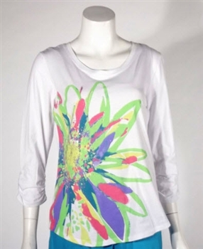 Erin London Novelty Tee White / Multi