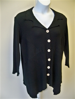 Fenini Black Asymmetrical Shirt