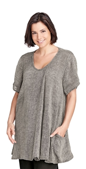 Flax Designs Relaxed Pullover Tunic