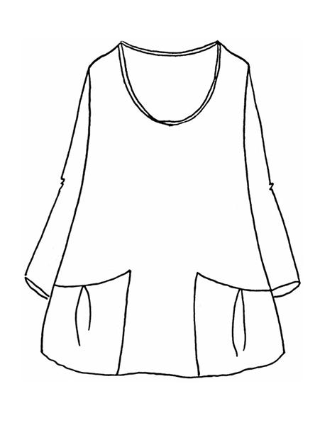 7ae37aafedd Flax Designs Slouch Tunic