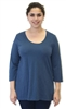 Flax Designs  Cotton Tunic Tee