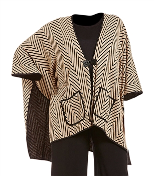 IC Collection Chevron Poncho