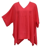 Match Point Red Linen Kimono Tunic