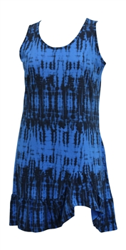 Tie Dye Cotton Flounce Dress