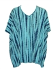 Prairie Cotton Elbow V Tunic  Tie Dye