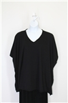 Prairie Cotton Elbow V Tunic Black