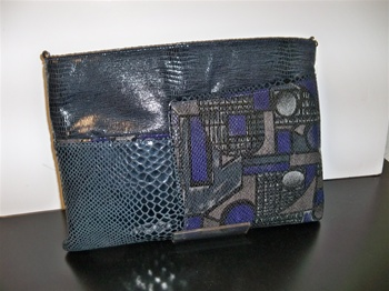 Gorgeous Leather Clutch  Evening Bag
