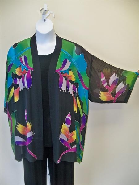 Plus Size Silk Kimono Jacket