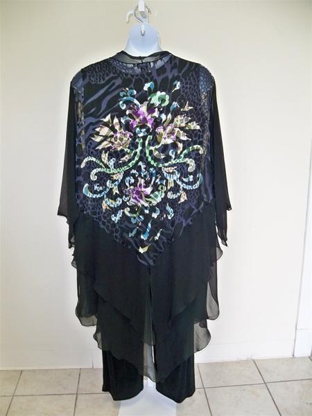 Burnout Silk Duster Jacket Plus Size Floral
