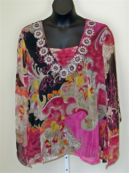Silk Threads Rosy Tunic