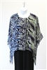 Sterling Styles Animal Ombre  Art Wear Tunic Blue / Green