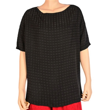 Tianello Black WIndowpane Tunic