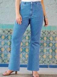 Ulla Popken Stretch Denim Bootcut Jeans