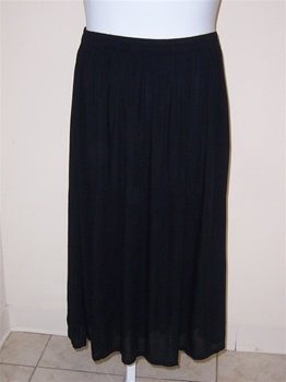 We Be Bop Solid Black A-line Skirt
