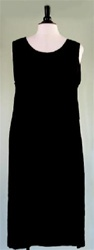 We Be Bop Solid Black Crinkle Tank Dress