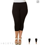 X-two Black Capri  Leggings
